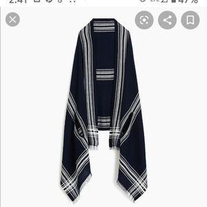 J. Crew Window pane cape scarf